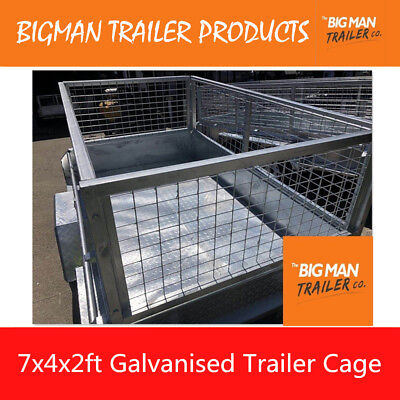 New Box Trailer Mesh Cage Galvanised Heavy Duty No Bolts Nuts 7x4 x 2ft