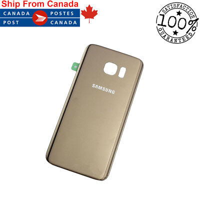 Samsung Galaxy S7 Gold Rear Back Glass Battery Panel Replacement Gold G930W8