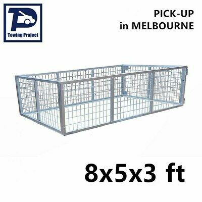 New Box Trailer Mesh Cage Galvanised Heavy Duty No Bolts Nuts 8x5x3ft