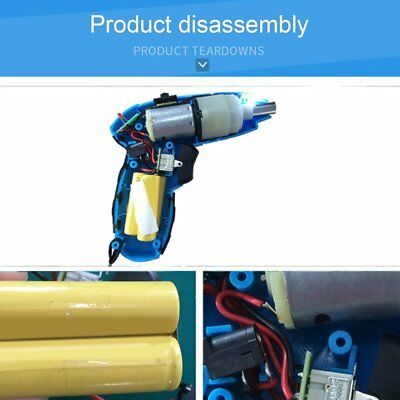 4.8V Rechargeable Electric Screwdriver Multifunction Drill Bit Tool Set X8