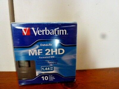 "Verbatim 1.44MB 3.5"" Floppy Disks Diskettes IBM Formatted - Pack of  10"