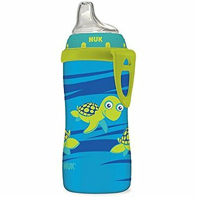 NUK Blue Turtle Silicone Spout Active Cup, Feeding Spill Leak Proof 10-Ounce