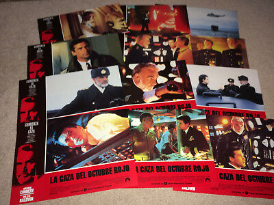HUNT FOR RED OCTOBER Movie Lobby Card Poster Set 1990 Clancy Submarine Action