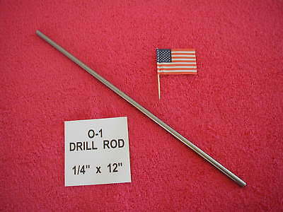 "1/4"" Drill Rod, 0-1, Tool Steel, Precision Ground, .250"", Machinist"