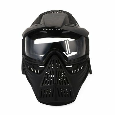 Full Face Mask Hunting CS War Field Tactical Airsoft Paintball PC Lens