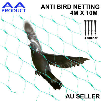 Anti Bird Netting Commercial Fruit Tree Plant Knitted Pest Net Green 4x10m 6GSM