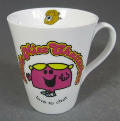 Mr Men LITTLE MISS CHATTERBOX 'Love to Chat' ceramic/pottery coffee mug