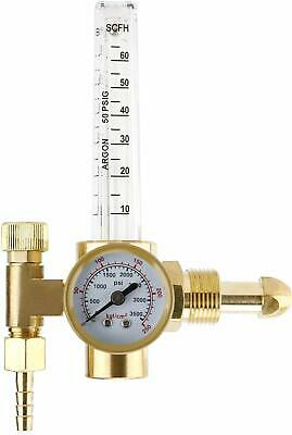 Argon CO2 Mig Tig Flow Meter Regulator Welding Flowmeter CGA-580 Fitting 3500psi