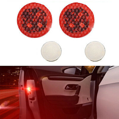 2x Universal Car Door LED Opened Warning Flash Light Kit Wireless Anti-collid HQ