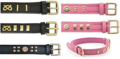 Ancol Heritage Deluxe Bull Terrier Rose Staff Knot Leather Collar