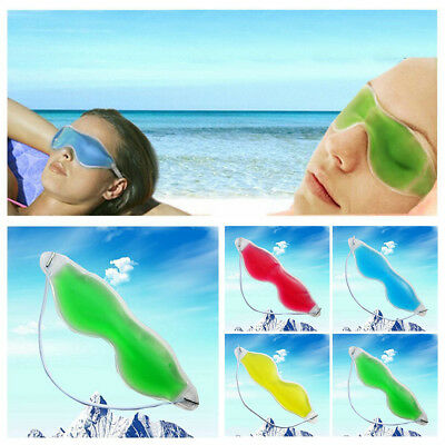 Relaxing Tired Eyes & Headache Relief Hot Cold Cooling Gel Eye Mask Ice Bag NE4Q