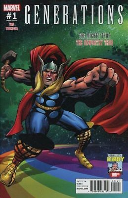 GENERATIONS : MIGHTY THOR & UNWORTHY THOR - 100th ANNIVERSARY JACK KIRBY VARIANT