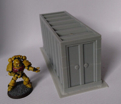 *SCENERY* one (1) shipping container, 40K, Necromunda, Malifaux, Bolt Action