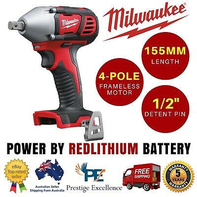 """Milwaukee - 18V 13 mm (1/2"""") Impact Wrench w/ Pin Detent - M18BIW12-0 Skin Only"""