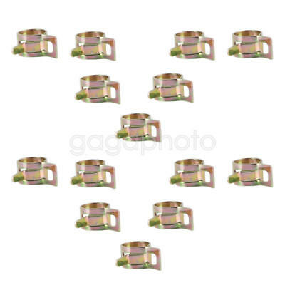 20pcs 10mm Water Pipe Air Tube Clamp Fuel Line Hose Spring Style Clip Fastener