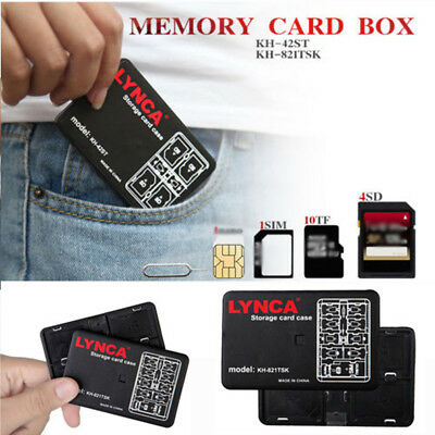 Waterproof Memory Card Storage Case Holder 16 Slot Micro SD TFSIM Nano Pouch Box