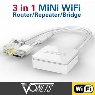 VONETS VAR11N-300 300Mbps WiFi To Ethernet Wireless Repeater AP Bridge Router DD