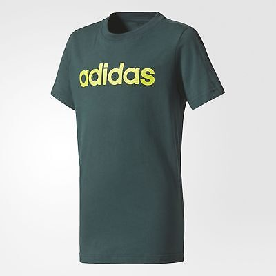 adidas Athletics Kinder Logo T-Shirt Green NEU