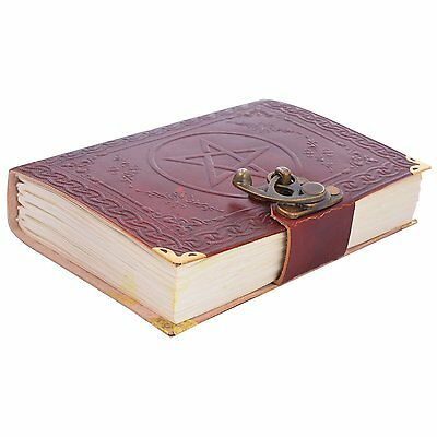 Indian Star Print Leather Diary Handmade Notebook Vintage Travel Diary 7 x 5''