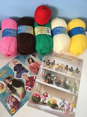 Easter knit kit king Cole pattern  9000 with 8 characters and over 500g of yarn