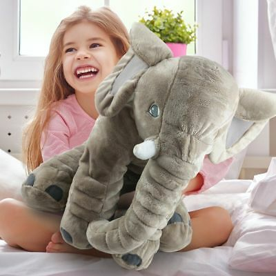 65cm Large Plush Elephant Toy Elephant Doll Baby Doll Birthday Pillow Cushion NJ