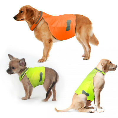 Dog Reflective Safety Vest Neon Visibility Pet Hi Viz Adjustable Jacket