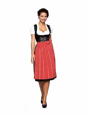 Stockerpoint Traditional Costume Dirndl Apron SC195 Red Midi 70cm