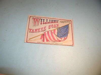 """Early 1900's """" Williams Yankee Soap """" Advertising Label"""
