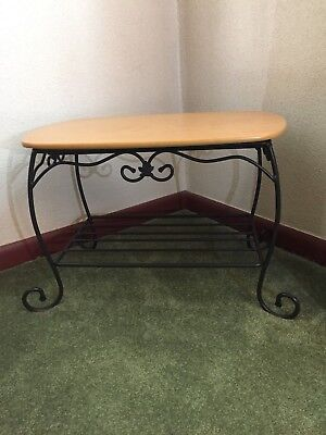 Longaberger Wrought Iron Treasure Stand End Table w/Lid NM condition