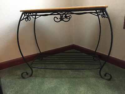 Longaberger Wrought Iron Hope Chest Basket Stand and Lid - Classic Stain ~  NMC