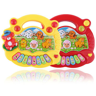 Baby Kids Musical Educational Animal Farm Piano Developmental Music Toy Gift LT