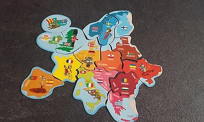"Magnets BROSSARD "" L'EUROPE "" CARTE COMPLETE DE 16 MAGNETS NEUFS EMBALLES"