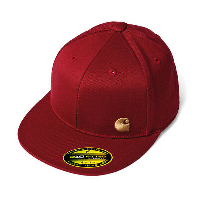 Carhartt Port Cap Hat 210 Fitted red gold Gr.7 1/4 - 7 5/8  NEUWARE portofrei