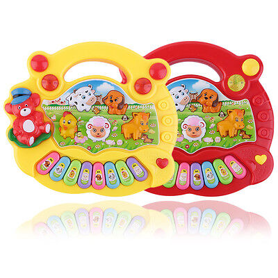 Baby Kids Musical Educational Animal Farm Piano Developmental Music Toy Gift ME