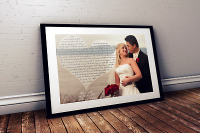 Personalised First Dance Our Dance Lyrics Photograph Print - wedding/anniversary