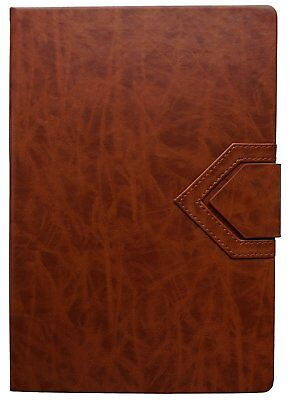 2018 Large Brown Dinira Password Journal Notebook 7x10 Inches, Bonded Leather, &