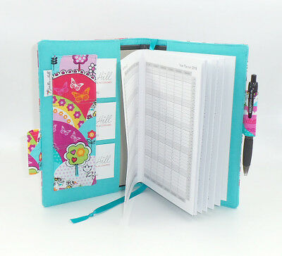 *Joella Hill* AUSSIE DESIGNER 2018 DIARY FABRIC COVER A5 WEEK TO VIEW Happy Hill