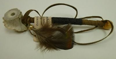 Authentic Hand Made Native American Peace Pipe BLACK functional Deer Antler COA