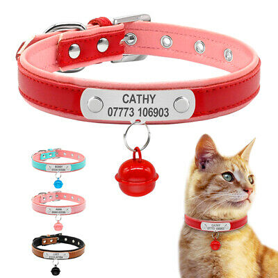 Soft Padded Leather Personalized Dog Collar Free Dog Name Phone ID Free Engraved