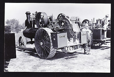 Real Photographic Postcard RPPC Mt Pleasant IA Early Case Vintage Farm Tractor