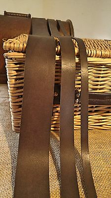 """Leather Strap Chestnut Brown, Two Sided, 2.6mm 50"""" long belt making Any width"""