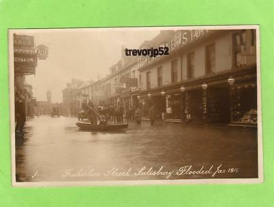 Fisherton Street Salisbury Flood Flooding 1915 unused RP pc  Ref B505