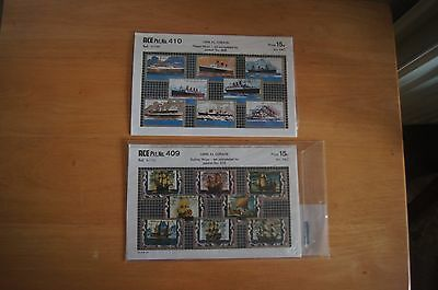 UMM AL QIWAIN STEAM & SAILING SHIPS ACE Pkt 409 & 410 Stamps Rare Vintage Set