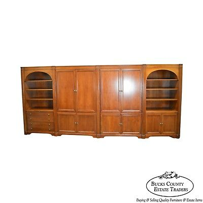 "Sligh 178"" Traditional Cherry Modular Office Wall Unit Bookcase"
