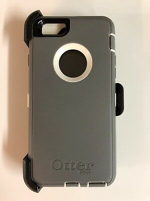 OtterBox Defender Case w/Holster Belt Clip for iPhone 6 iPhone 6s Gray/White