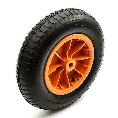 "14"" 14 Inch Inflatable Pneumatic Wheelbarrow Wheel Tyre Red Inner Tube Plastic"