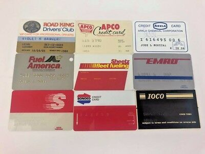 SUPER RARE Lot of 9 Vintage Gas Oil Credit Charge Cards q31