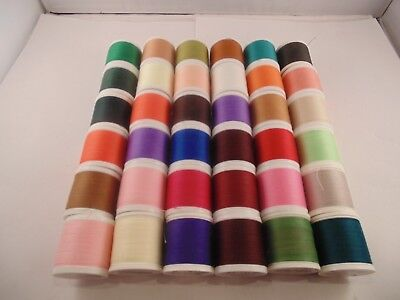 (B) MADEIRA AEROFIL No120 400m 100% Polyester Sewing Thread Pack of 36 Asso Cols