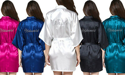 Wedding Brides and Bridesmaid Robe! Personalised w/ rhinestones! Hens party more