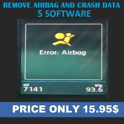 5 Software Airbag SRS Crash Data to Remove Delete Reset